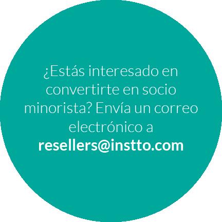¿Estás interesado en convertirte en socio minorista? Envía un correo electrónico a resellers@instto.com